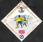 Sellos del Mundo : Asia : Yemen :  Mundial de fútbol Mexico 70, Nordahl, jugador sueco