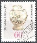 Sellos de Europa - Alemania -  300 Aniversario de nacimiento de Johann Friedrich Bottger (fundador de Meissen China Works).