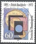 Sellos de Europa - Alemania -  Nacimiento Centenario de Erich Buchholz (artista).