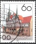 Sellos de Europa - Alemania -  750 años Aniv del ayuntamiento de Duderstadt.