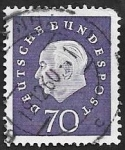 Stamps Germany -  177 - Theodor Heuss