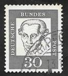Sellos del Mundo : Europa : Alemania :  227 - Emmanuel Kant