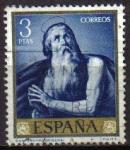 Stamps Spain -  ESPAÑA 1963 1505 Sello José de Ribera El Españoleto San Onofre Usado