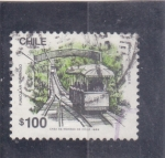 Stamps Chile -  F U N I C U L A R