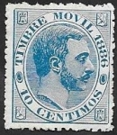 Stamps Spain -  5 - Alfonso XII