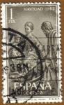 Stamps Spain -  NAVIDAD - Nacimiento de Pedro de Mena