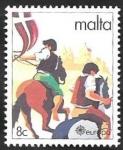 Stamps : Europe : Malta :  616 - Europa Cept, Folklore, Carrera de caballos