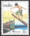 Stamps : Europe : Malta :  617 - Europa Cept, Folklore, Cucaña