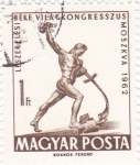Stamps Hungary -  CONGRESO MUNDIAL DE LA PAZ Y EL DESARME-MOSCU-62