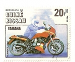 Stamps Guinea Bissau -  Cent. de la motocicleta. (Yamaha)