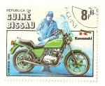 Sellos de Africa - Guinea Bissau -  Cent. de la motocicleta. (Kawasaki)
