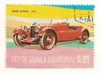 Sellos de Africa - Guinea Ecuatorial -  Automoviles de epoca. Aston Martin 1933.