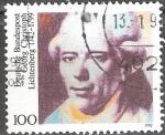 Sellos de Europa - Alemania -  250 aniversario Georg  Christoph Lichtenberg (1742-1799)  matemático y físico.