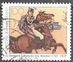 Sellos de Europa - Alemania -  250º Nacimiento Anniv del mariscal de campo Gebhard Leberecht von Blücher.