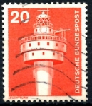 Stamps Germany -  ALEMANIA_SCOTT 1172.01 ANTIGUO FARO OCCIDENTAL. $0,2