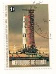 Sellos del Mundo : Africa : Guinea : Apolo 11. X Aniv. del aterrizaje en la luna.