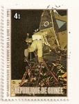 Stamps Guinea -  Apolo 11. X Aniv. del aterrizaje en la luna.