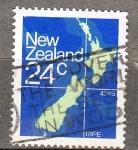 Sellos de Oceania - Nueva Zelanda -  Mapa