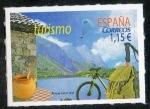 de Europa - España -  5019 -Turismo.Turismo interior con la imagen de la sierra a orillas de un lago.
