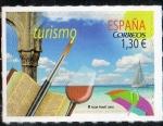 de Europa - España -  5020- Turismo. Turismo de costa con el mar ,el velero y la sombrilla.