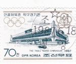 Sellos de Asia - Corea del norte -  INSTALACIONES JUEGOS OLIMPICOS
