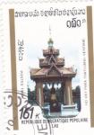 Sellos de Asia - Laos -  TEMPLO EN VIENTIANE
