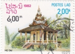Stamps : Asia : Laos :  templo Ho Tay