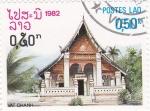 Sellos del Mundo : Asia : Laos : templo Vat Chanh