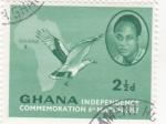 Sellos del Mundo : Africa : Ghana : Conmemoración Independencia de Ghana