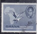 Stamps Ghana -  Conmemoración Independencia de Ghana