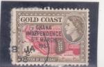 Stamps Ghana -  mapa