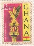 Stamps Ghana -  emblema aguila