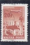 Sellos de Europa - Hungría -  AVIÓN SOBREVOLANDO HELSINKI