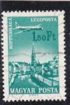 Sellos de Europa - Hungría -  AVIÓN SOBREVOLANDO COPENHAGUE