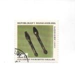 Sellos de Africa - Madagascar -  cuchara y tenedor