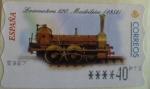 Sellos del Mundo : Europa : España : ATM (TRENES) 2001. Locomotora 120, Madrileña (1851)