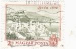 Sellos de Europa - Hungría -  PANORAMICA DE BUDA 1872