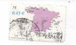 Sellos del Mundo : Europa : España : MAPA  DE ESPAÑA