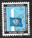 Stamps ONU -  Bandera y Edificio de Naciones Unidas