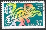 Sellos de America - Estados Unidos -  3539 - Año lunar chino del mono