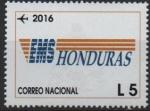 Stamps Honduras -  HISTORIA  DE  LA  INDUSTRIA  POSTAL  Y  CORREOS  DE  HONDURAS.  EMBLEMA  EXPRESS  MAIL  SERVICE.