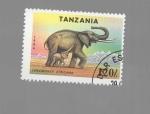 Sellos de Africa - Tanzania -  ELEFANTE