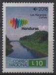 Sellos de America - Honduras -  MARCA  PAÍS  HONDURAS. PAISAJE  DEL  PARQUE  LOS  NARANJOS.