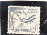 Stamps Chile -  LINEA AEREA NACIONAL 25 ANIVERSARIO