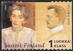 Sellos de Europa - Finlandia -  1648 - Compositor Jean Sibelius y esposa