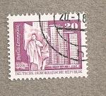 Stamps Germany -  Plaza Lenín Berlín