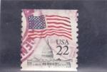 Sellos de America - Estados Unidos -  CAPITOLIO Y BANDERA