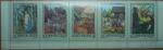 Sellos de Europa - Rusia -  1969 Russian Fairy Tales. Strip of 5
