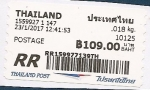 Sellos del Mundo : Asia : Tailandia : etiqueta postal