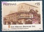 Sellos del Mundo : Asia : Filipinas : 125 aniv. Fábrica de Cervezas San Miguel